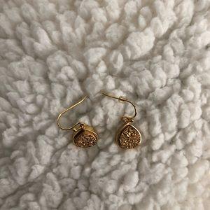 gold geode earrings